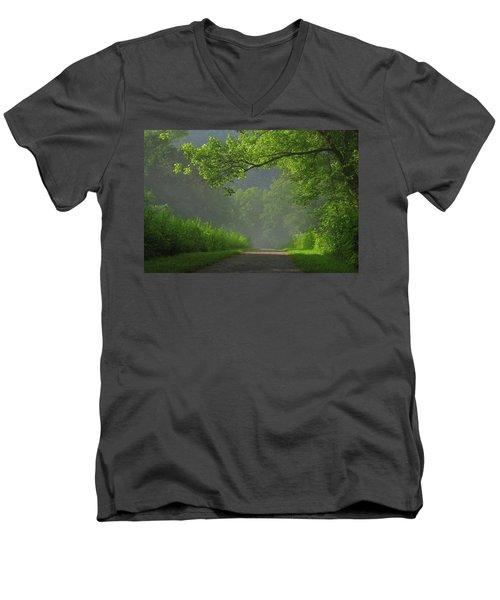 A Touch Of Green Men's V-Neck T-Shirt by Douglas Stucky