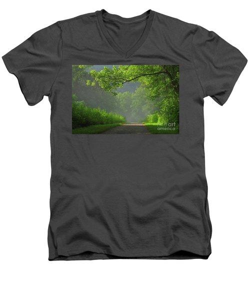 A Touch Of Green II Men's V-Neck T-Shirt by Douglas Stucky