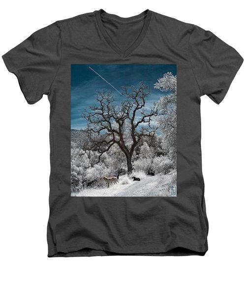 A Trail Not Taken Men's V-Neck T-Shirt