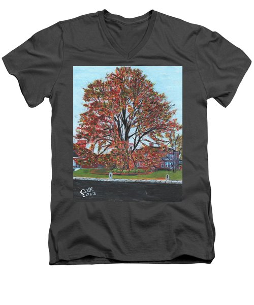 A Tree In Sherborn Men's V-Neck T-Shirt