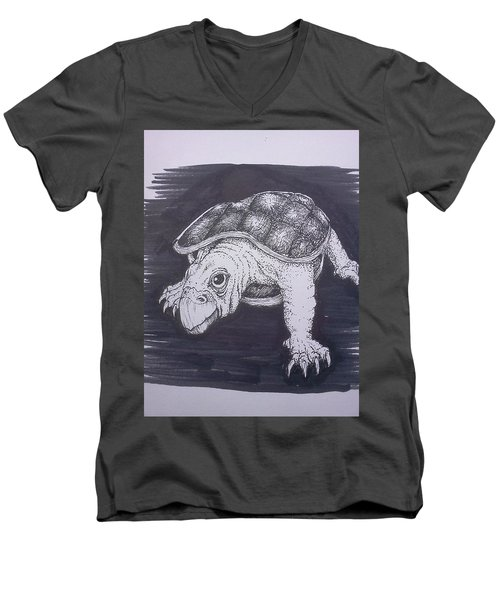 A Turtle Named Puppy Men's V-Neck T-Shirt