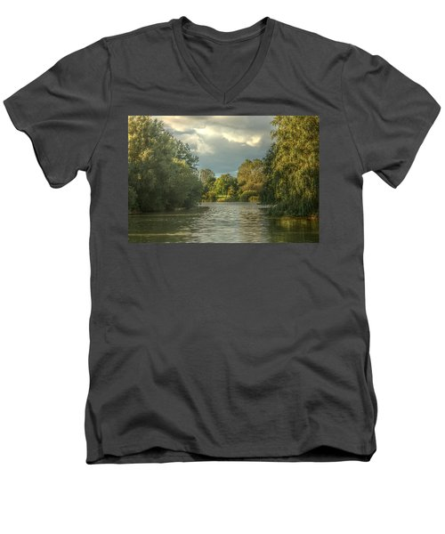 A View Down The Lake Men's V-Neck T-Shirt