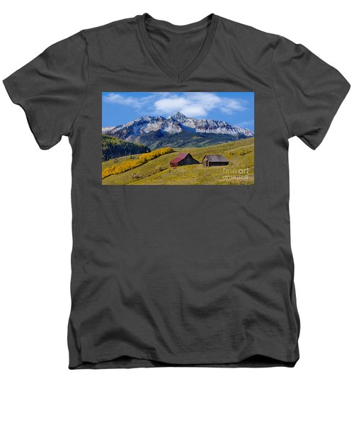 A View From Last Dollar Road Men's V-Neck T-Shirt by Jerry Fornarotto