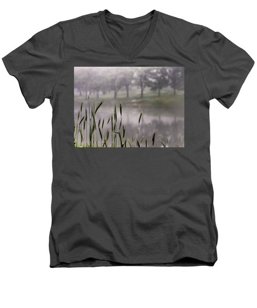 A View In The Mist Men's V-Neck T-Shirt by Bruce Patrick Smith