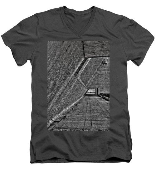 A Visitor Men's V-Neck T-Shirt by Mark Alder
