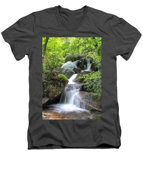 A Walk Along The Jacob Fork Men's V-Neck T-Shirt