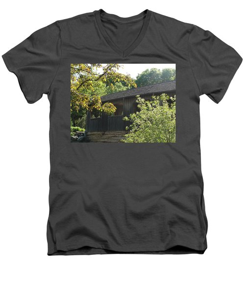 Men's V-Neck T-Shirt featuring the photograph A Walk In The Park by Tiffany Erdman