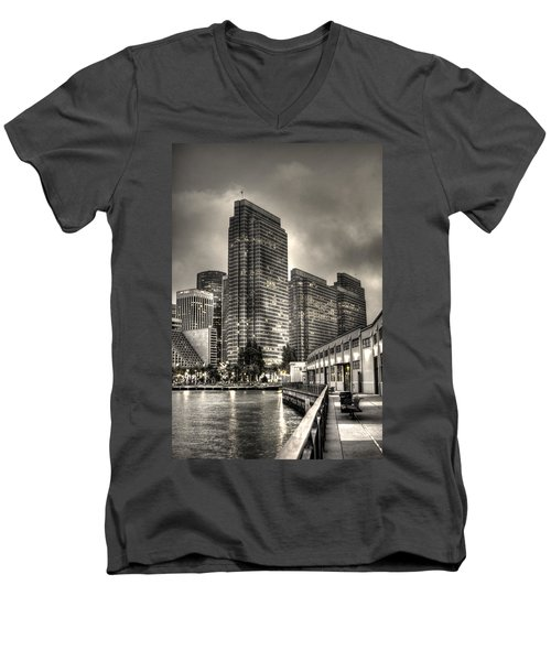 A Walk On The Embarcadero Waterfront Men's V-Neck T-Shirt