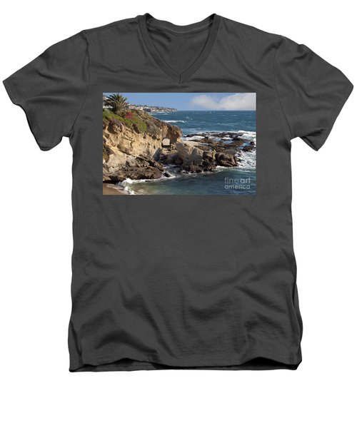 A Walk Through The Rocks Men's V-Neck T-Shirt by Loriannah Hespe