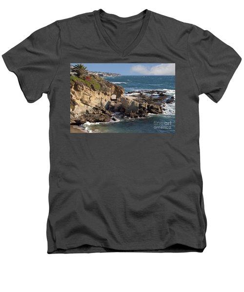 A Walk Through The Rocks Men's V-Neck T-Shirt