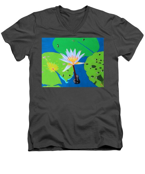 A Water Lily In Its Pad Men's V-Neck T-Shirt
