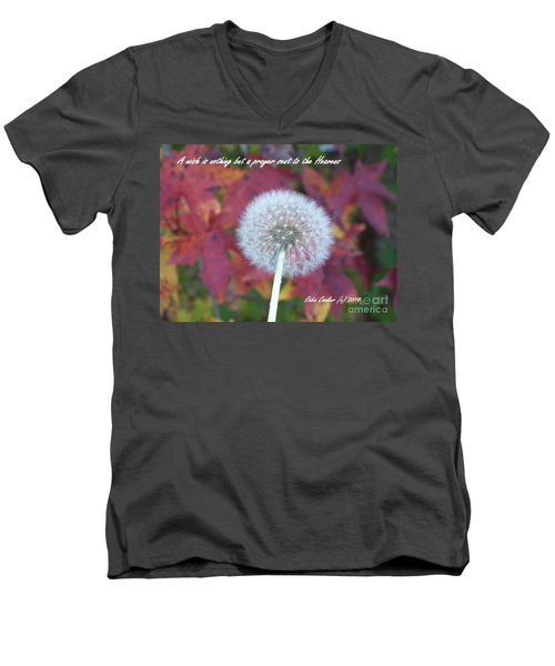 A Wish For You Men's V-Neck T-Shirt by Robin Coaker