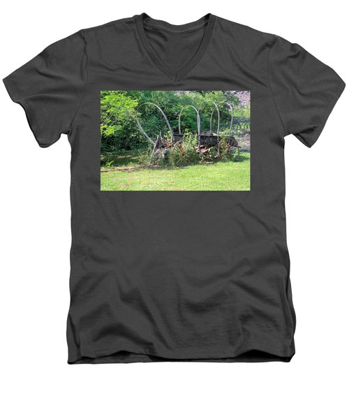 Men's V-Neck T-Shirt featuring the photograph Abandoned by Gordon Elwell