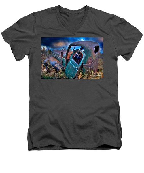 Abandoned II Men's V-Neck T-Shirt by Alana Ranney