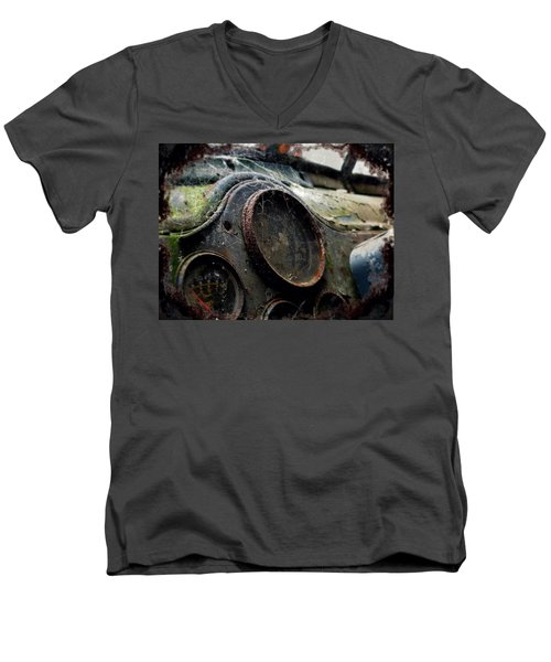 Men's V-Neck T-Shirt featuring the photograph Abandoned by Micki Findlay