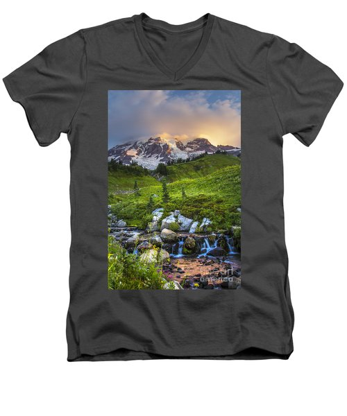 Above Myrtle Falls 3 Men's V-Neck T-Shirt