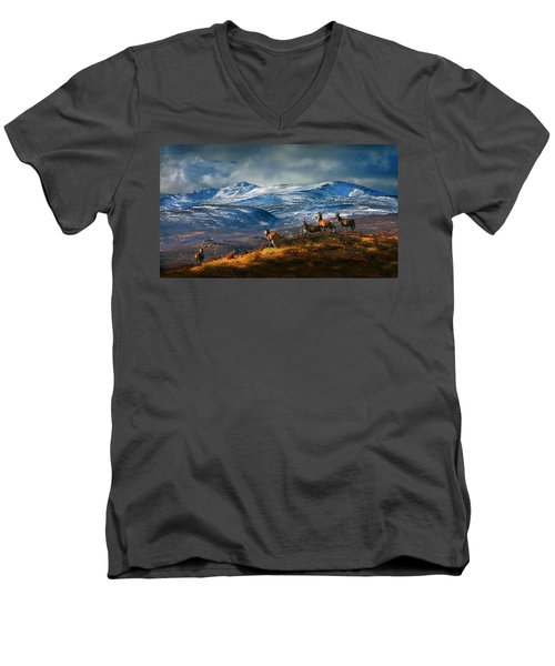 Above Strathglass Men's V-Neck T-Shirt