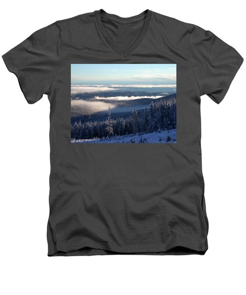 Above The Clouds Men's V-Neck T-Shirt