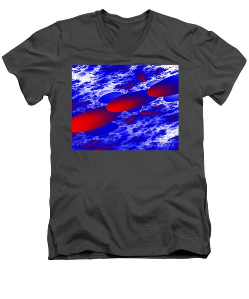 Men's V-Neck T-Shirt featuring the digital art Fly Away by Hai Pham