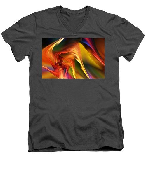 Abstract 031814 Men's V-Neck T-Shirt