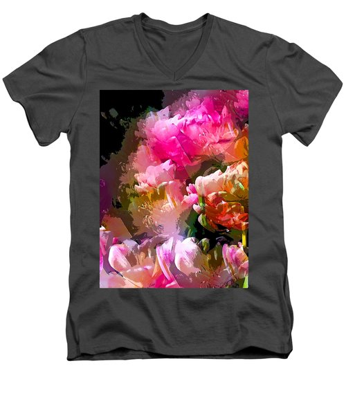 Abstract 272 Men's V-Neck T-Shirt