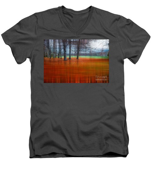 abstract atumn II Men's V-Neck T-Shirt by Hannes Cmarits