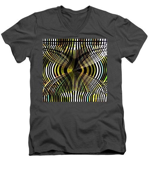 Abstract Butterfly Men's V-Neck T-Shirt