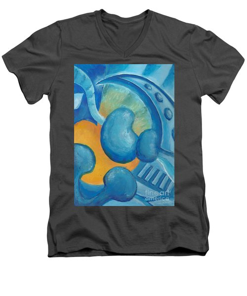Abstract Color Study Men's V-Neck T-Shirt