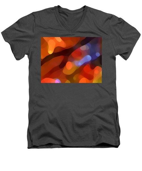 Abstract Fall Light Men's V-Neck T-Shirt