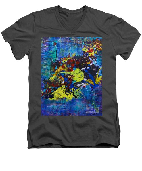 Abstract Fish  Men's V-Neck T-Shirt
