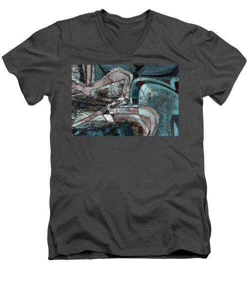 Abstract Graffiti 9 Men's V-Neck T-Shirt