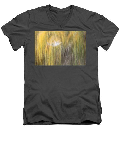 Men's V-Neck T-Shirt featuring the photograph Abstract Haze by Amy Gallagher
