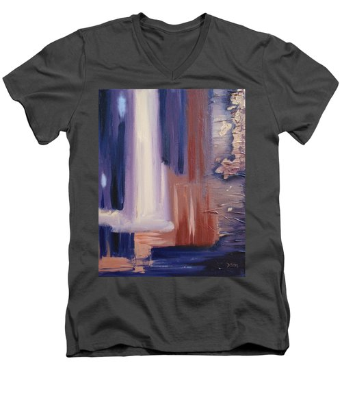 Men's V-Neck T-Shirt featuring the painting Abstract I by Donna Tuten
