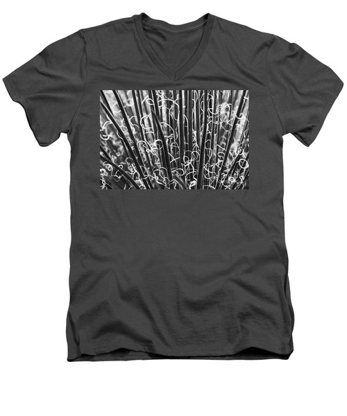 Abstract In Black And White Men's V-Neck T-Shirt