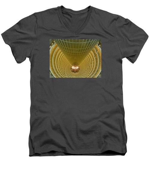 Abstract In Gold Men's V-Neck T-Shirt