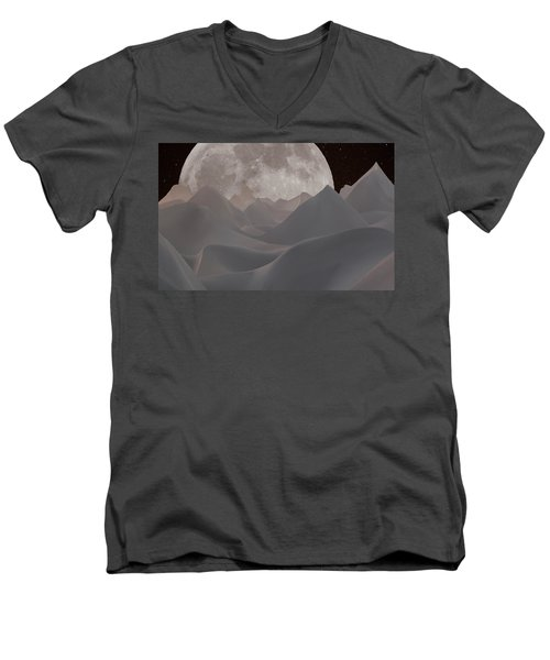 Abstract Landscape #3 Men's V-Neck T-Shirt by Wally Hampton