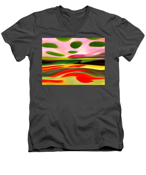 Abstract Landscape Of Happiness Men's V-Neck T-Shirt