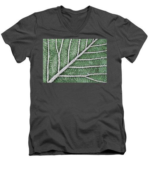 Abstract Leaf Art Men's V-Neck T-Shirt