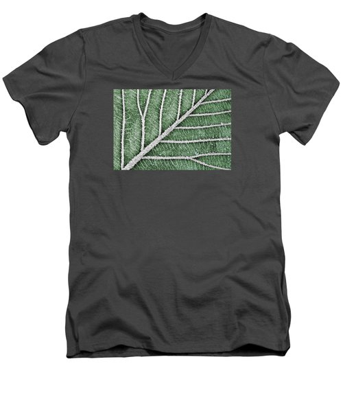 Men's V-Neck T-Shirt featuring the photograph Abstract Leaf Art by Dreamland Media