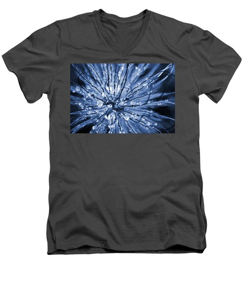 Abstract Macro Flower Head Men's V-Neck T-Shirt