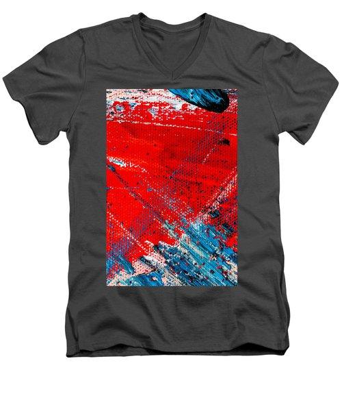 Abstract Original Artwork One Hundred Phoenixes Untitled Number Five Men's V-Neck T-Shirt