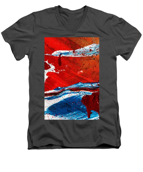 Abstract Original Artwork One Hundred Phoenixes Untitled Number Three Men's V-Neck T-Shirt