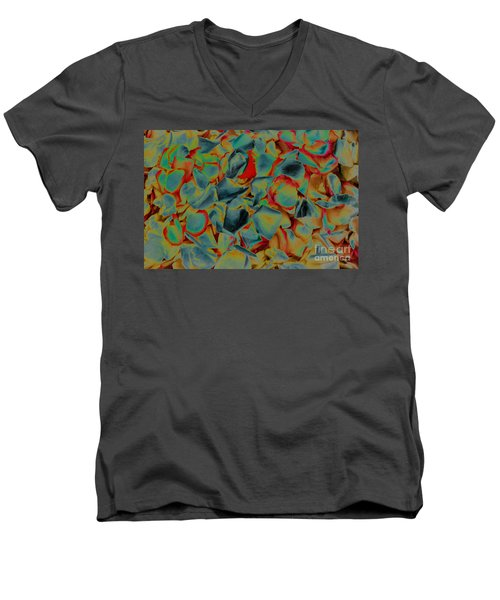 Men's V-Neck T-Shirt featuring the photograph Abstract Rose Petals by Mae Wertz