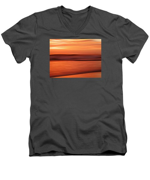Abstract Seascape At Sunset Men's V-Neck T-Shirt