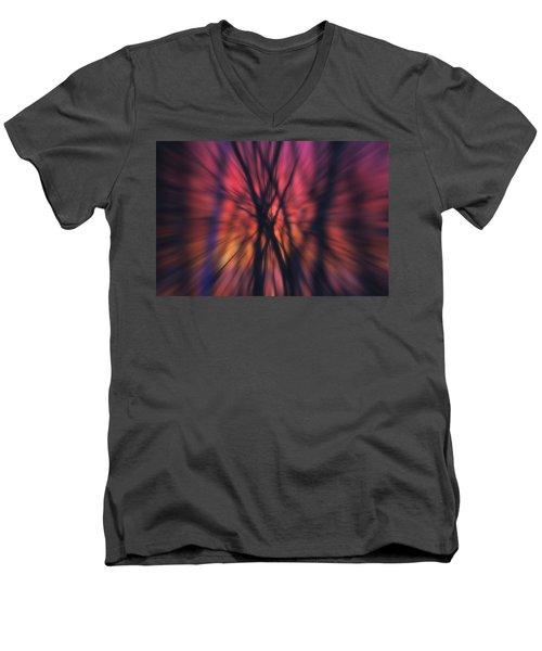 Abstract Sunset Men's V-Neck T-Shirt