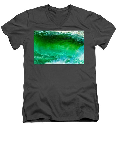 Abstract Wave 3 Men's V-Neck T-Shirt