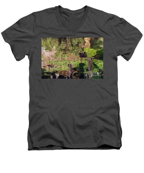 Men's V-Neck T-Shirt featuring the photograph Abstracted Reflection by Kate Brown