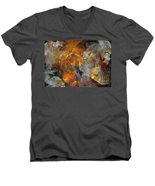 Abstraction 435-08-13  Marucii Men's V-Neck T-Shirt