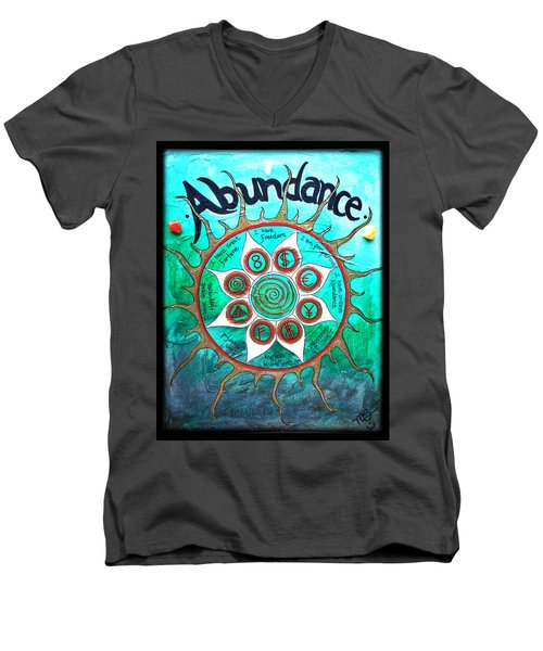 Abundance Money Magnet - Healing Art Men's V-Neck T-Shirt