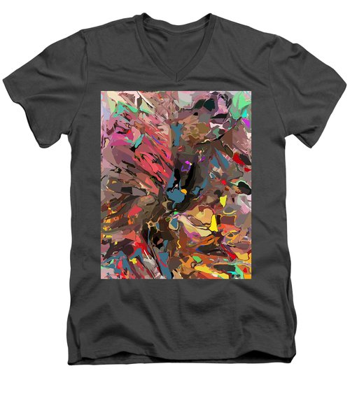 Men's V-Neck T-Shirt featuring the digital art Abyss 2 by David Lane